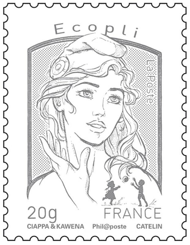 Ecopli, le timbre gris est le troisième tarif de La Poste. C est la couleur  du tarif le moins cher pour expédier une lettre. Il se dit le tarif  économique ... d5ab98add7c