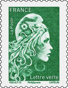 Timbre vert Marianne l'engagée